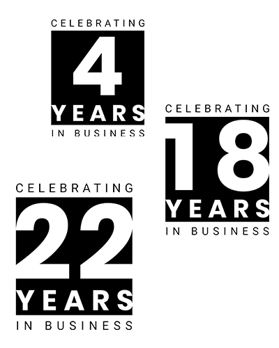 Years in Business Badges