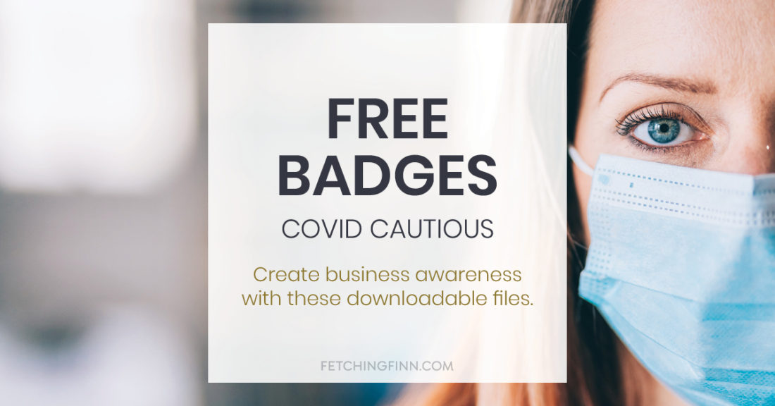 Covid Cautious badges